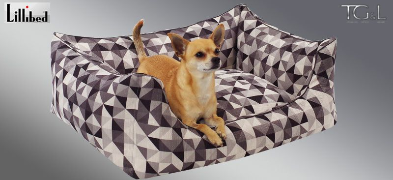 Lillibed® Hondenmand Mondriaan Grijs 57 x 45 x 22 cm