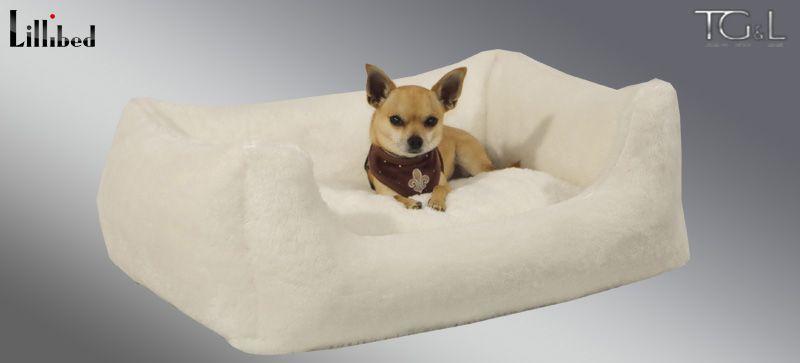 Lillibed® Hondenmand Pluche Beige 57 x 45 x 22 cm
