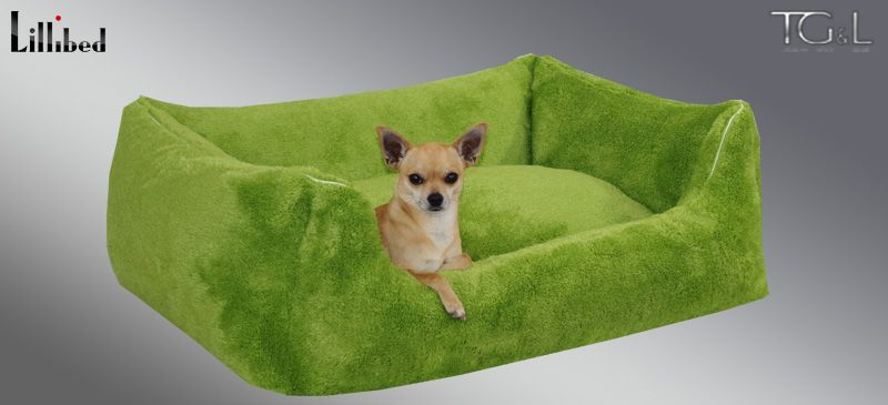 Lillibed® Hondenmand Pluche Groen 57 x 45 x 22 cm