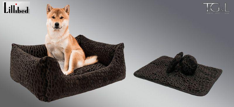 Lillibed® Hondenmand Pure Cocodrillo Bruin 57 x 45 x 22 cm