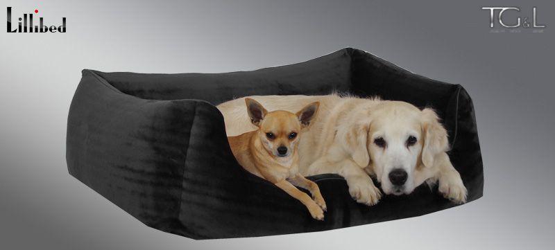 Lillibed® Hondenmand Pure Zwart 57 x 45 x 22 cm
