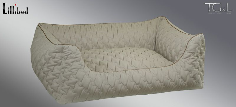 Lillibed® Hondenmand Sunny Quilt Beige 57 x 45 x 22 cm