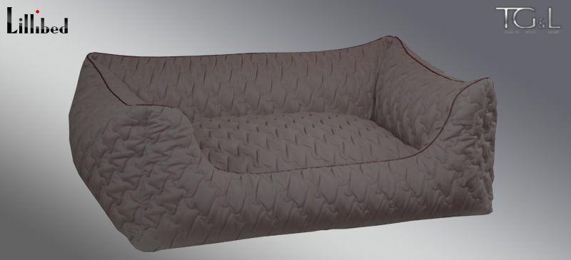 Lillibed® Hondenmand Sunny Quilt Bruin Grijs 57 x 45 x 22 cm