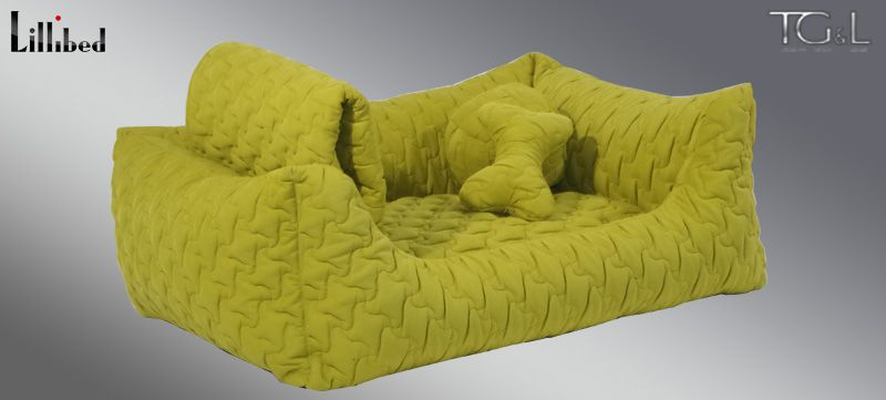 Lillibed® Hondenmand Sunny Quilt Groen 57 x 45 x 22 cm
