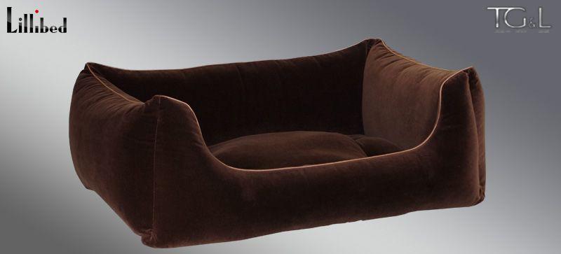 Lillibed® Hondenmand Velvet Bruin 57 x 45 x 22 cm