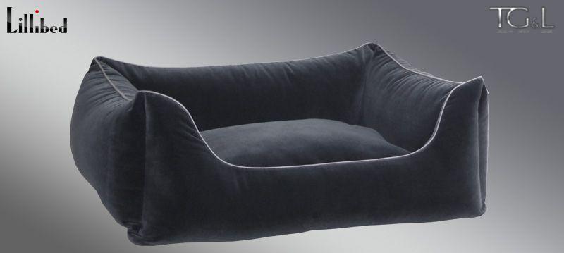 Lillibed® Hondenmand Velvet Grijs 57 x 45 x 22 cm