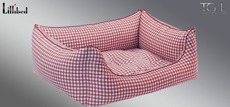 Lillibed® Hondenmand Vichy Rood 57 x 45 x 22 cm