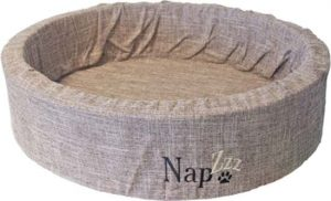 Napz-Hondenmand-linnen-Bruin-80-cm