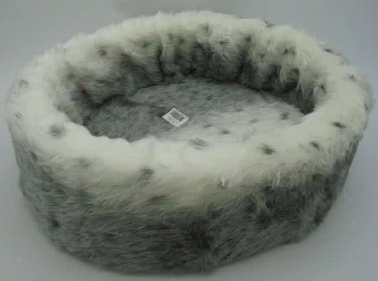 Nobby Bontmand sneeuw luipaard type 1 Grijs | Wit 40x40 cm