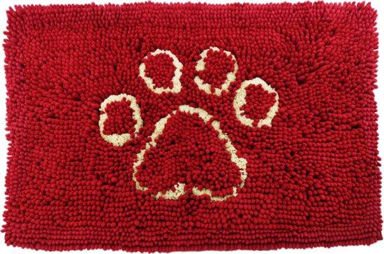 Nobleza Microvezel dierenmat Red 90x66 cm