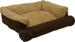 Pet-Parade-Huisdier-Sofa-Bed-Gewatteerd-Bruin-63×50-cm