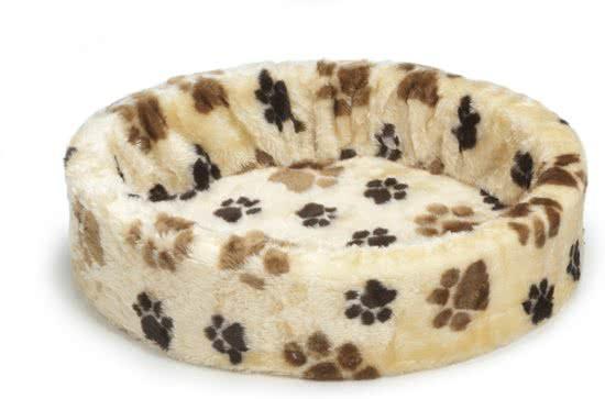 Pet Products Hondenmand - Voetprint Crã¨Me 60x64 cm