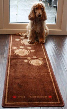 Pet Rebellion Droogloopmat Dog Runner bruin 45 x 150 cm.