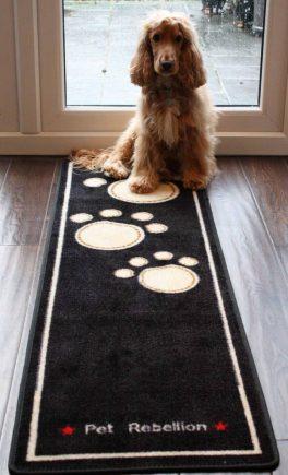 Pet Rebellion Droogloopmat Dog Runner zwart 45 x 150 cm