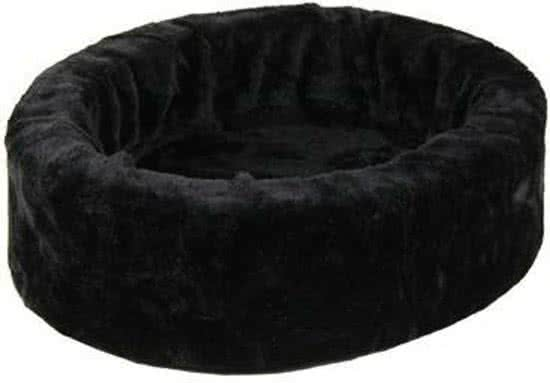 Petcomfort Bontmand - Hondenmand Zwart 60x60 cm