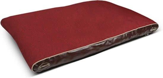Scruffs Hilton Memory Foam - Hondenkussen Rood 75x120 cm
