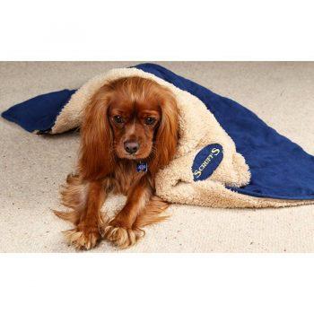 Scruffs Hondendeken Snuggle Blauw 110 x 75 cm