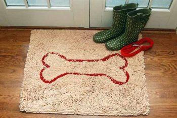 Soggy Doggy Droogloopmat Beige met bot 66 x 91 cm