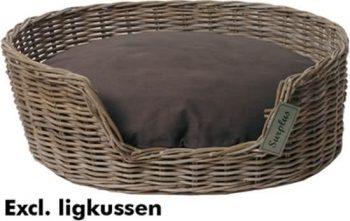 Surplus Rotan basket Bruin 100x100 cm