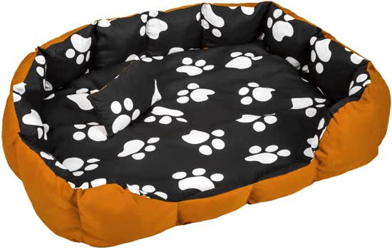 Tectake Hondenbed hondenmand XXL Zwart/Bruin 100x120 cm