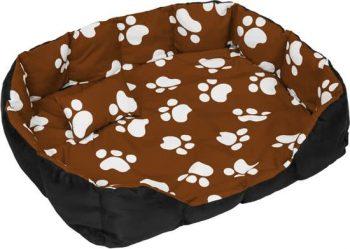 Tectake Hondenbed hondenmand XXL Zwart/Bruin 90x110 cm