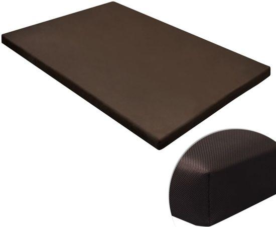 vidaXL Hondenmat plat Bruin 60x80 cm