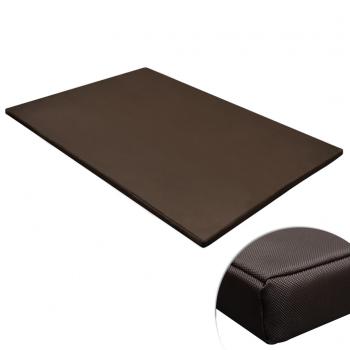 vidaXL Hondenmat plat rechthoekig XL bruin