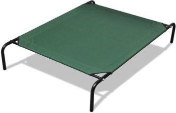 vidaXL Huisdieren bed met stalen frame Groen 80x110 cm